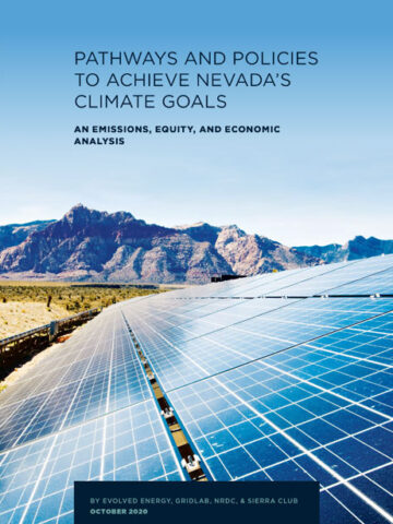 Pathways and policies to achieve Navada's climate goals